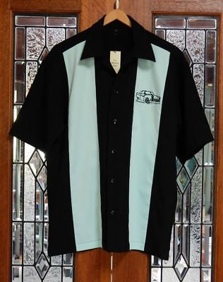 Vintage Fairlane Car 50's Rockabilly Charlie Harper / Sheen Style Bowling Shirt