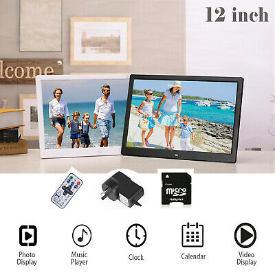 12'' Electronic LED Digital Photo Frame Video Music Alarm Picture MP3 MP4 Player