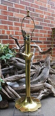Vintage Stiffel Brass Table Lamp Three Way Lighting Not Plated SOLID Brass