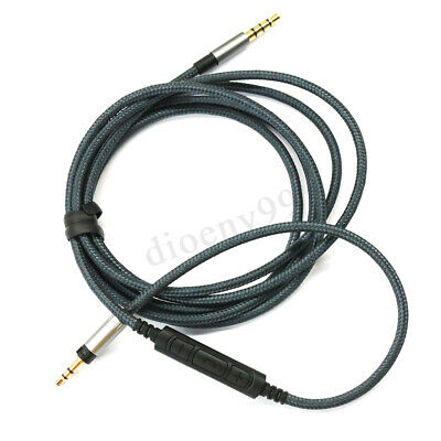 1.2M Audio Cable For Sennheiser Momentum Over On-Ear Headphones with Remote Mic