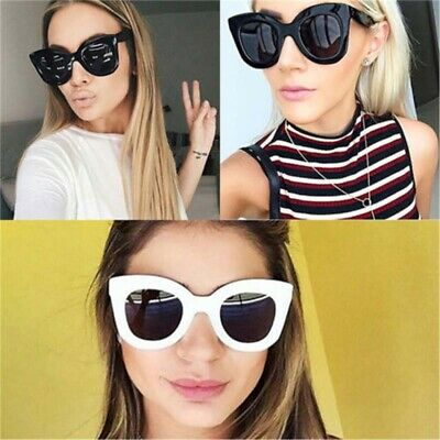 Luxury Ladies Womens Oversized Cat Eye Sunglasses Vintage Style Retro Shades AU