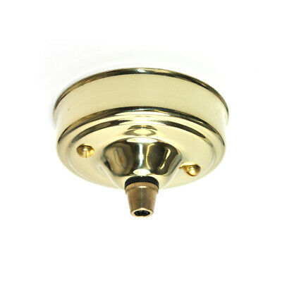 83mm Diameter Polished Solid Brass Cordgrip Ceiling Rose