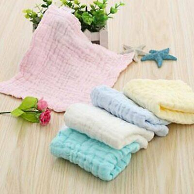 6 PACK Baby Newborn Ultra Soft Muslin Washcloths Bath Towel 100% organic cotton