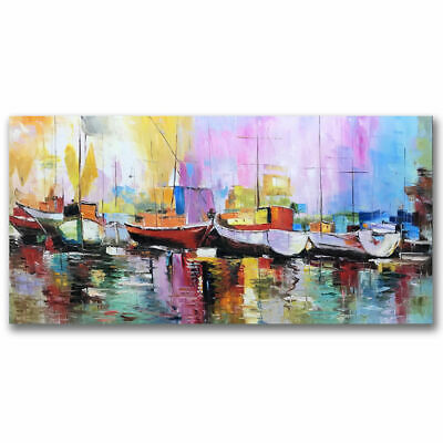 VV063 Modern Large 100%Hand Painted Seascape ART Oil painting on canvas unframed