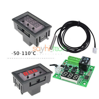 Digital W1209 12V Thermostat Temperature Controller Switch Sensor&Case -50-110°C