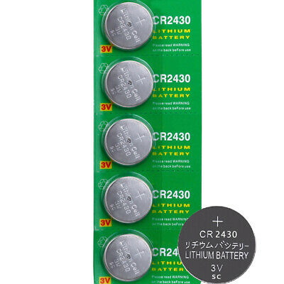 5pcs CR2430 3V Coin Button Batteries Cell Battery For Watch Toys Remote Hot