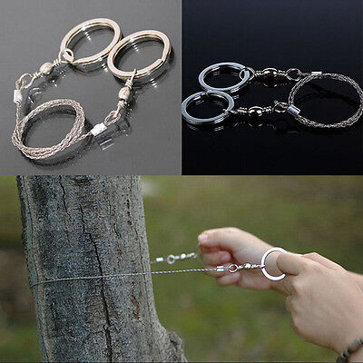 Emergency Survival Stainless Steel Wire Saw Camping Hunting  Climbing Gear FO