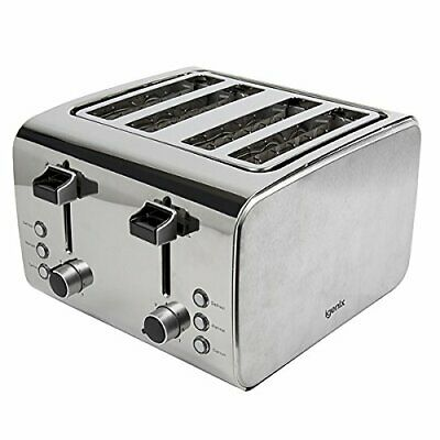 New IGENIX 4SLICE S/STEEL TOASTER IG3204