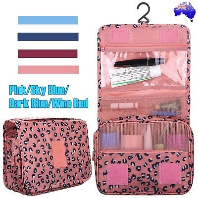 Travel Cosmetic Makeup Bag Toiletry Case Hanging Storage Wash Organizer Pouch AU
