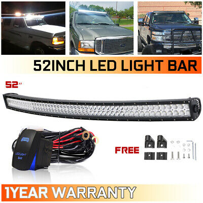 52inch 700W Curved Led Work Light Bar Combo Offroad Driving for Ford Jeep SUV
