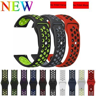 for FitBit Blaze Strap Replacement Breathable Soft Silicone Sport Wristband Band