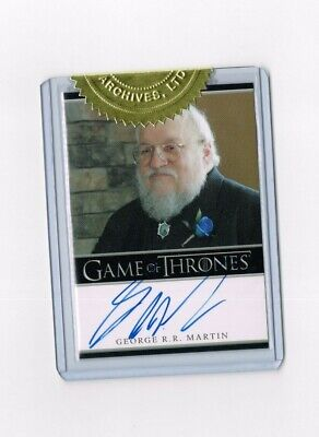 Game of Thrones Autograph Card Executive Producer George RR Martin HBO SEALED