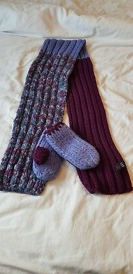 Gap Wool Blend Hat And Mittens Set