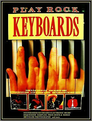 ELECTRONIC ROCK SYNTHESIZER KEYBOARD Book A-Z 300 Chords Genesis Elp Yes Jarre