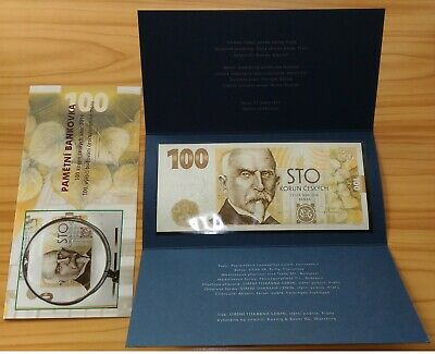 Czech Republic 100 Korun 2019 Rasin - FIRST CZECH COMMEMORATIVE banknote UNC