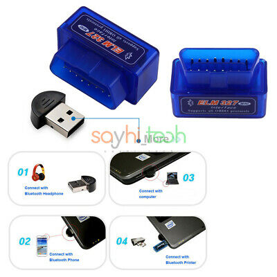 ELM327 OBD2 II Bluetooth Auto Car Mini OBD2 Diagnostic Interface Scanner Tool