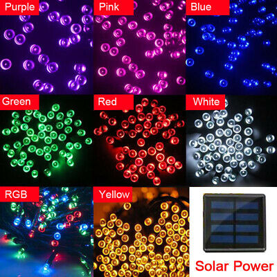 50/100LED 200 LED Solar Power Fairy Lights String  Garden Outdoor Party Wedding
