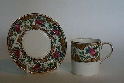 Grays Pottery EARLY Coffee Can & Saucer - Pattern SWANSEA 441 dating to c.1913