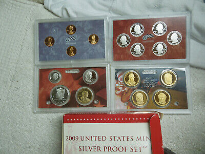 2009 Usa Coin Proof Mint Silver Set 18 Us Coins Lot Quarters Pennies