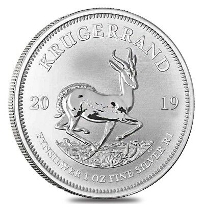 2019 Krugerrand 1oz fine .999 silver coin in capsule