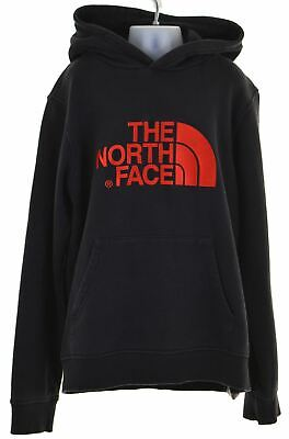 THE NORTH FACE Boys Hoodie Jumper 13-14 Years Large Black Cotton  IQ76