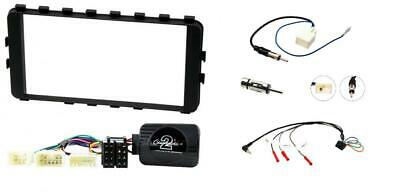 Toyota IQ Double din car stereo fitting facia, steering control and aerial adp