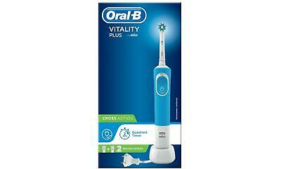Braun~Oral-B~Vitality Plus~Cross Action~Electric Toothbrush~Blue~Rechargeable~