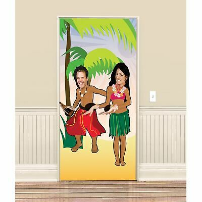 6ft Stand in Hawaiian Luau Poster Photo Frame Face Hole Selfie Party Decoration