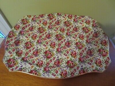 Royal Winton Chintz Summertime  Large Tray Platter  14 X 18 Inches- Ex Cond