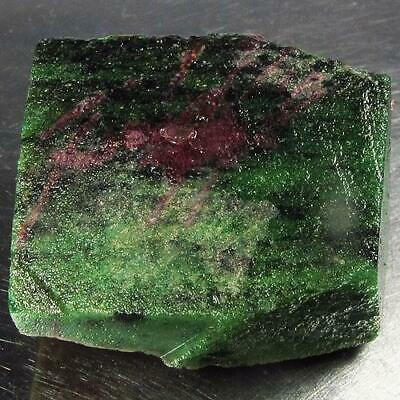 139.23 Ct - Unheated Natural Rough Green Line Black Ruby in Zoisit Madagascar