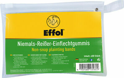 Effol Non-Snap Plaiting Bands - Black x 400 Pack - Showing