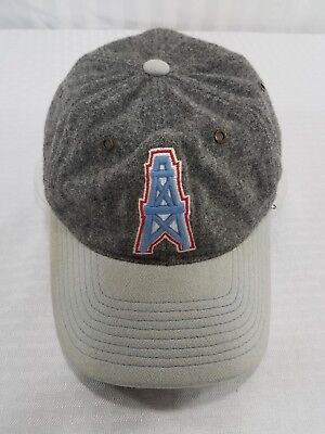 Vintage Mitchell Ness Houston Oilers Baseball Cap Hat Wool Fitted S M  Titans Nfl 0550ff2ad
