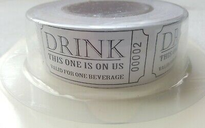 250 Pack Roll Drinks Vouchers Wedding Partys Special Occasions Birthday Party FB