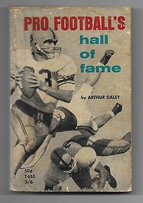 1965 Pro Football's Hall of Fame 1st Printing Paperback Book Arthur Daley