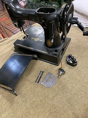 Singer Featherweight 221 sewing machine body hull With  Removable Hand Crank