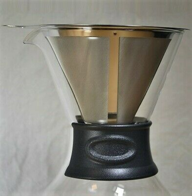 Grunwerg Cafe Stal Pour over Coffee Maker with Reusable Filter