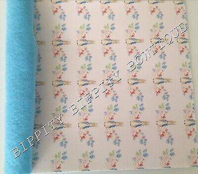 """CRAFTS NEW DOUBLE SIDED /""""FLORAL BUTTERFLY/"""" FELT BACKED FABRIC SHEET..HAIR BOWS"""