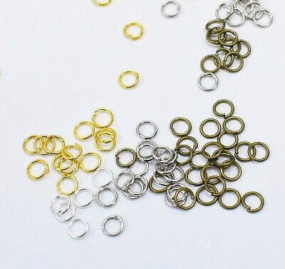 5mm Jump Rings Jewellery Making Findings Craft Round Connectors Supplies Metal
