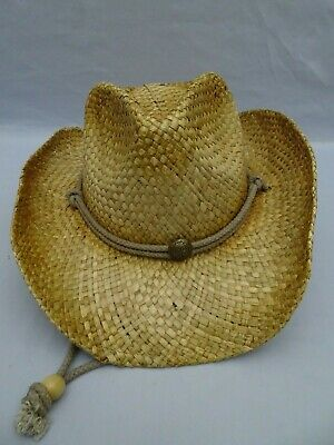 c57a4e886aa940 Peter Grimm Mens Straw Round Up Cowboy Hat Ombre Light Color One Size