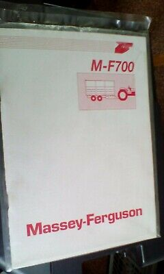 Massey-Ferguson M-F700 Trailer Instruction Book1991