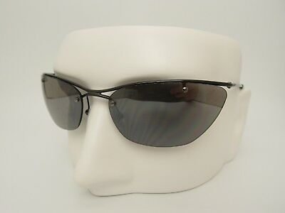7079298a3a201 Rare Christian Dior Flash Rimless Mirrored Cat Eye Designer Sunglasses Italy
