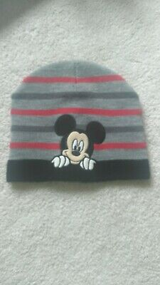0eb54b0df7da92 DISNEY MICKEY MOUSE BEANIE Gray/Black/Red Winter Knit Ski Hat Men/Women