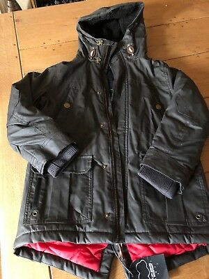 Next Age 7 Brown Padded Wax Jacket