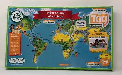 Leapfrog Leapreader Interactive World Map Works With Tag New