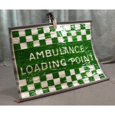 Reflective Ambulance Loading Point Sign - display with Tri-pod
