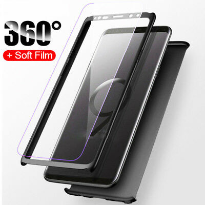 360° Full Cover Black Armor Case for Samsung Galaxy S8 Hard Shell