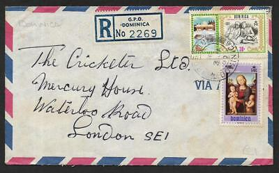 (111cents) Dominica Registered Cover to England