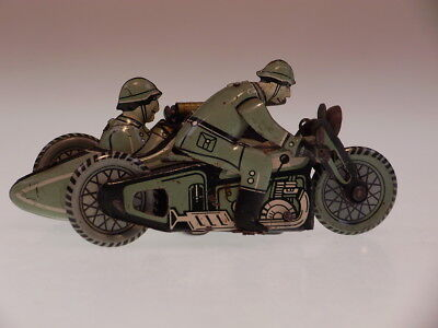 """GSMOTO """"MILITARY RIDER WITH SIDE CAR"""" CKO 1935 FOREIGN N0.2,10 cm, BESPIELT/USED"""