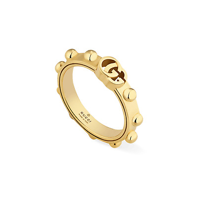 ANELLO GUCCI GG RUNNING Oro giallo YBC554643001 Ring yellow gold MIS 15 FEDE f6a3a8539a21