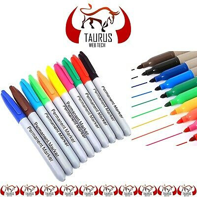 50 x Permanent Markers Pens Pack Assorted Multi Colour Sharpe Fine Point Tip UK